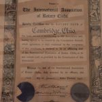 Club Charter January 1st, 1920